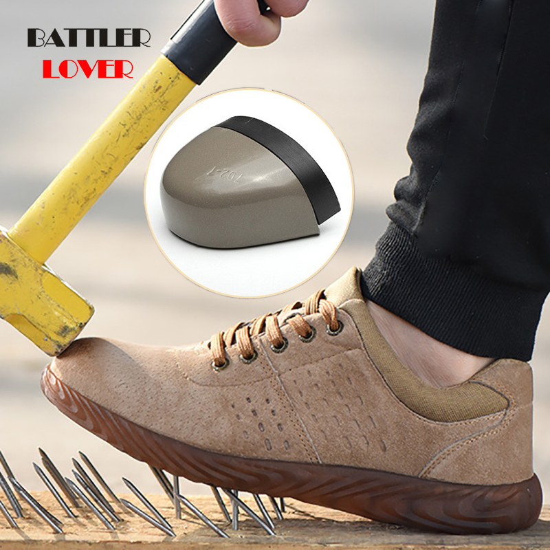 Labor Insurance Shoes Men Steel Head Anti-smash Stab-resistant Anti-slip Electric Welder Beef Tendon Jelly Bottom Work Shoes Man