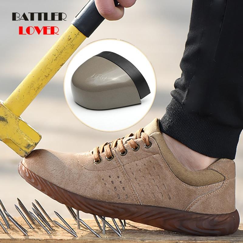 Labor Insurance Shoes Men Steel Head Anti-smash Stab-resistant Anti-slip Electric Welder Beef Tendon Jelly Bottom Work Shoes Man