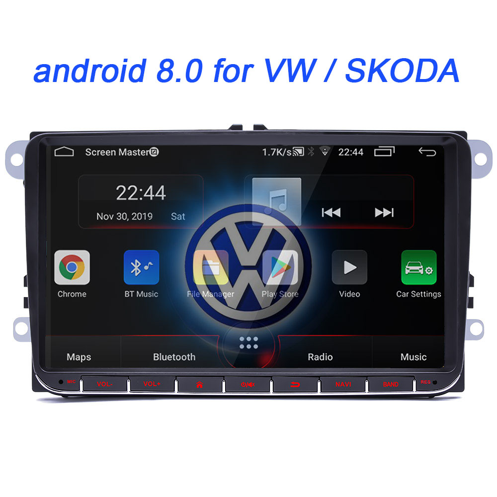 android 8.0 For VW Volkswagen Golf Polo Tiguan Passat b7 b6 SEAT leon Skoda yeti Octavia Car Multimedia player 2 Din Car radio
