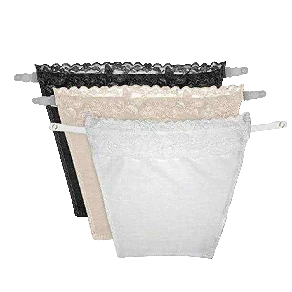 3Pcs Anti Peep Invisible Bra Lace Traceless Corset Wrapped T4E2 Underwear Q6K6