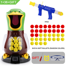 Shooting-Toys Target-Duck Foam-Ball Gift Soft-Bullet-Gun Score Air-Power-Popper Kids