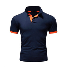 Clothing Polo-Shirt Short-Sleeve Business Solid-Color Casual Summer Men Fashion Slim