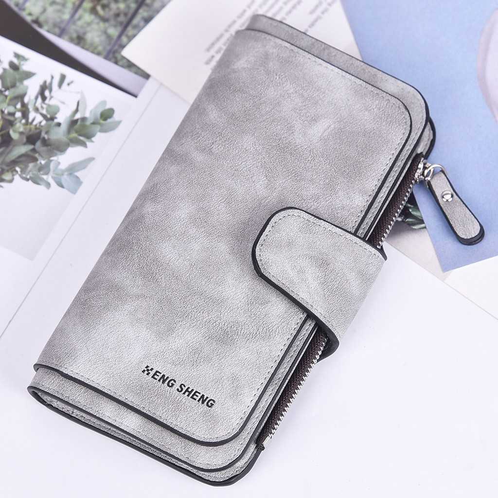 2019 Original Luxury Men Wallets Long Women Purse Wallet Male Clutch Leather With Zipper Phone Bag Wallet Business Coin 826