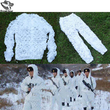 Ghillie-Suit Pants Jacket Snow Sniper Hunting 3d Camouflage White Camo High-Quality Climbing