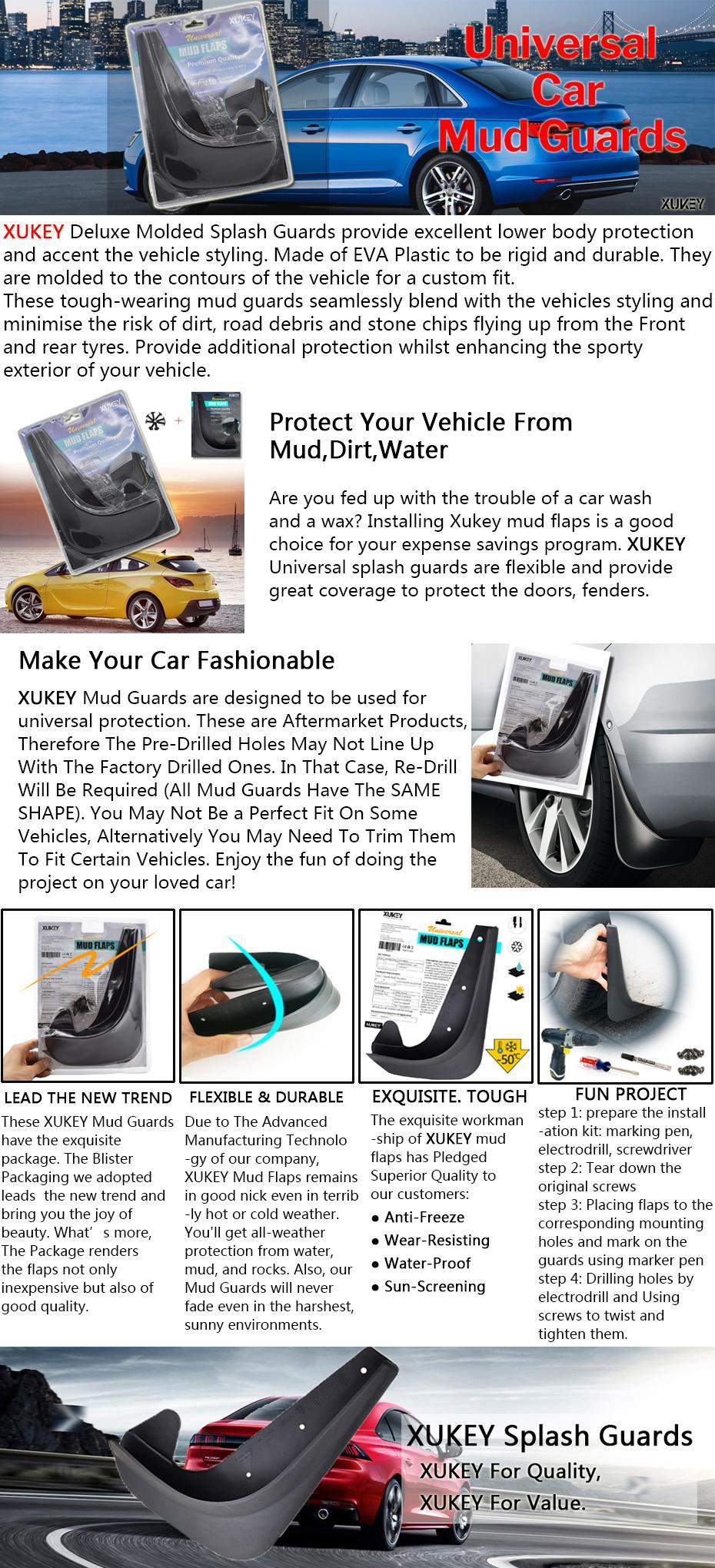 f/ür VW//Touareg Mk1 Facelift 2008-2010 Car Dekoration Modellierung Mud Flaps Spritzschutz Anti Flecken Kratzer Einfache Installation HUAQIEMI 4pcs Auto Vorne Hinten Schmutzf/änger Ersatzzubeh/ör
