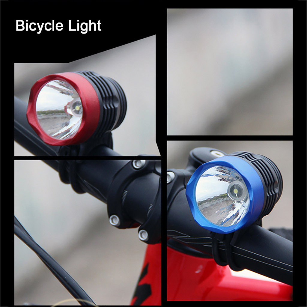 New 2pc Bicycle LED Lights Set Front Rear Cycle Lamp Bike Torch Biking Cycling