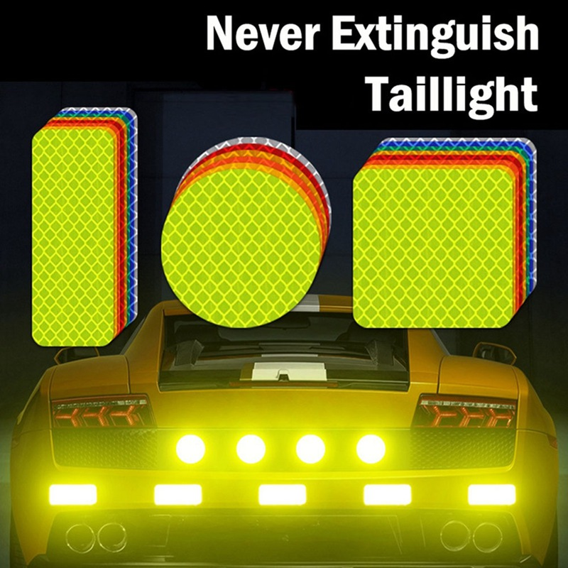 10pcs Safety Reflective Warning Strip Tape Car Bumper Reflective Strips Secure Reflector Stickers Decals Car Styling