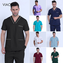 Pants Scrub-Uniform Salon Viaoli Work-Wear Beauty Womens Cotton Unisex Pet High-Quality