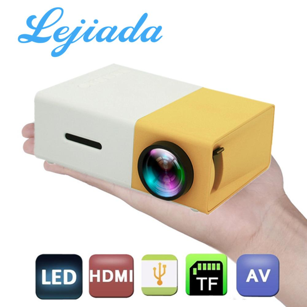 LEJIADA HOT LED Mini YG-300 Projector 1080P Full HD Supported HDMI USB AV TF PS4 Portable Projector Home Media Player