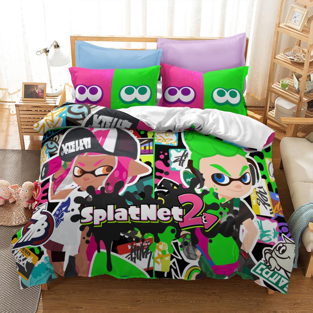 3D Splatoon Game  Bettwäsche Set Duvet Cover Pillowcase Bedding Set 135*200cm