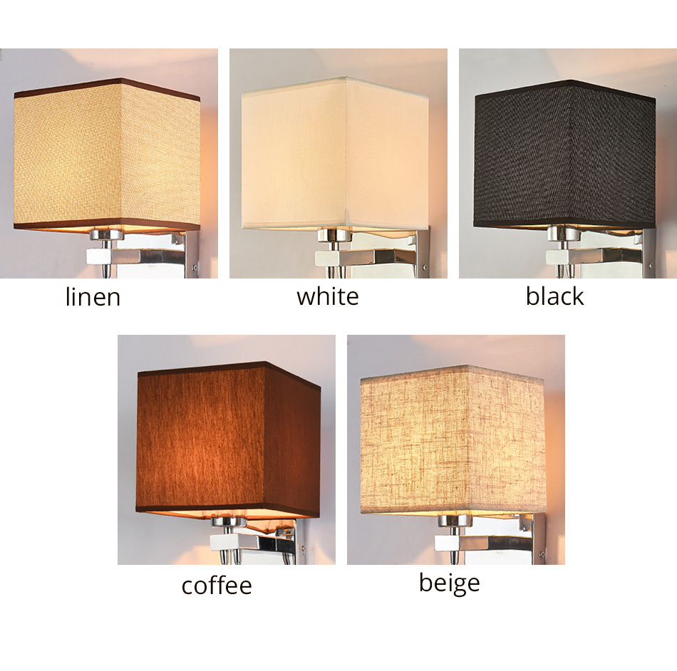 Modern Indoor LED Wall Lamp Bedside Bedroom Applique Sconce With Switch USB E27 Bulb Interior Headboard Home Hotel Wall Lights (3)