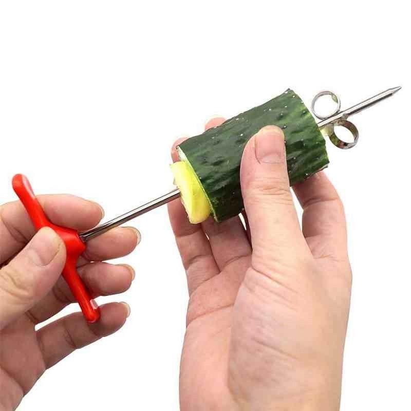 Metal Spiralizer Vegetables Spiral Knife Carving Tool Potato Carrot Cucumber Salad Chopper Manual Spiral Screw Slicer Cutter
