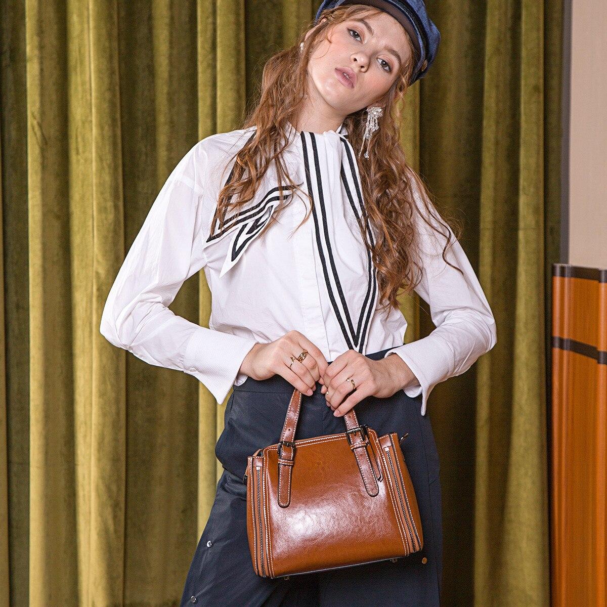 2019 Woman Bag Woman Package Personality Oblique Satchel Atmosphere Cowhide Single Shoulder Package Luxury Handbags Women Bags