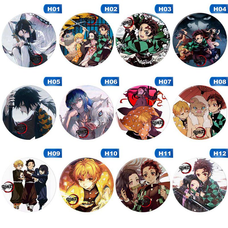Anime Demon Slayer: Kimetsu no Yaiba Kamado Tanjirou Cosplay Bedge Cartoon Collect Backpacks Bags Badges Button Brooch Pins
