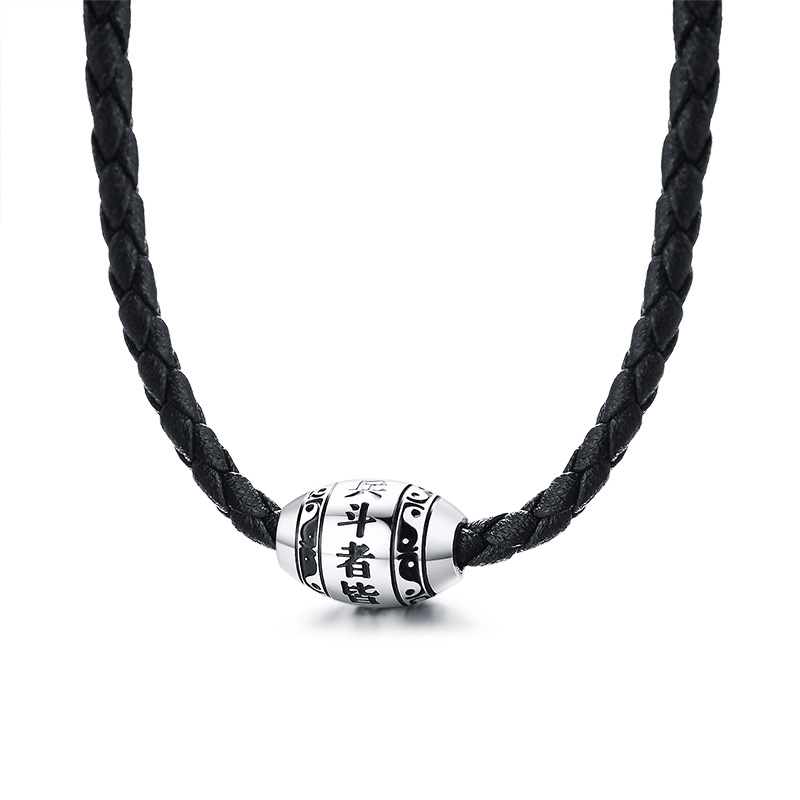 Men-s-Necklace-9-words-Buddha-Mantra-Lucky-Beads-Stainless-Steel-Charm-Pendant-with-Black-Braided (5)