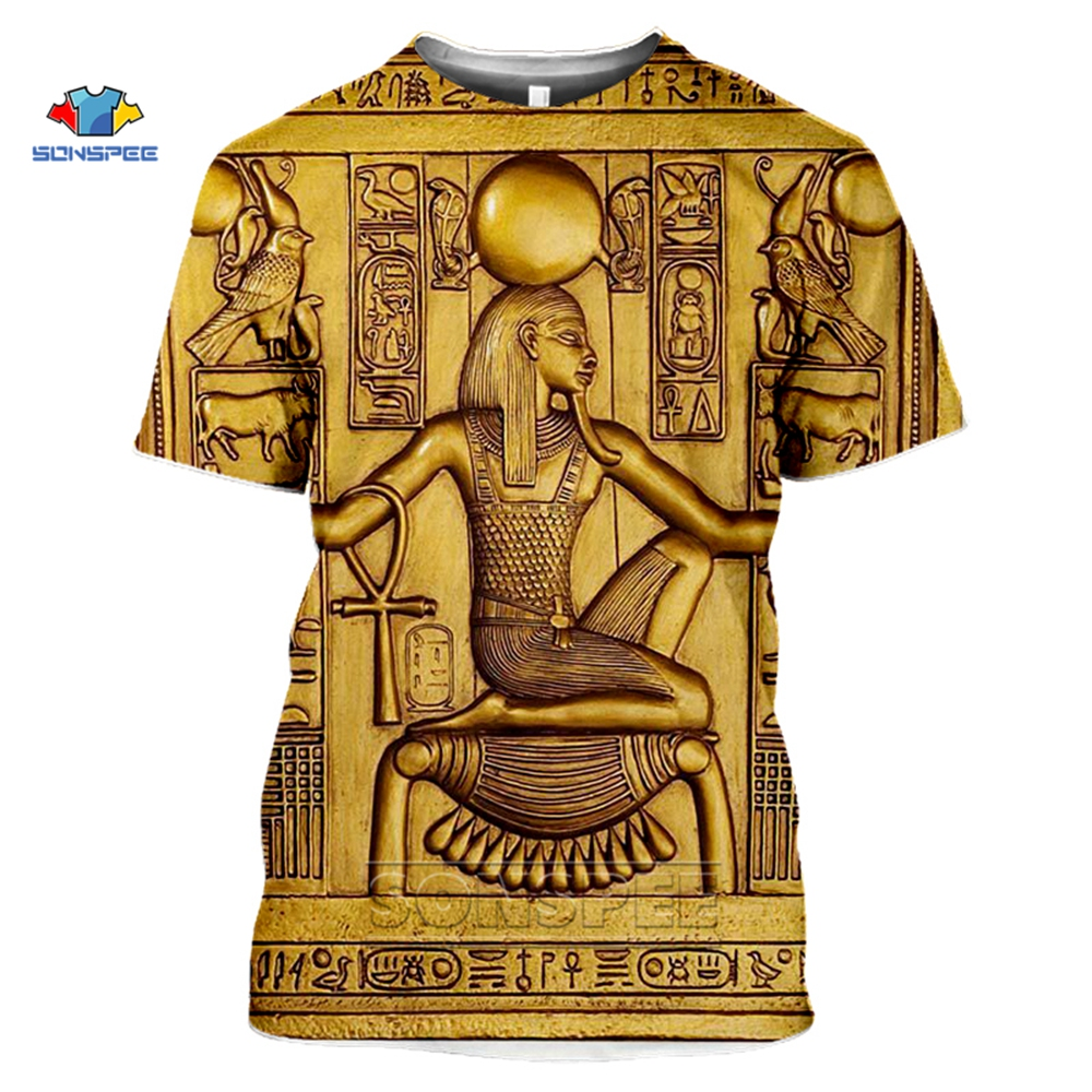 SONSPEE 3D T Shirt Printed Ancient Egyptian Men/women Vintage Streetwear T-shirt Youth Retro Egypt Tshirt Summer Top Clothes