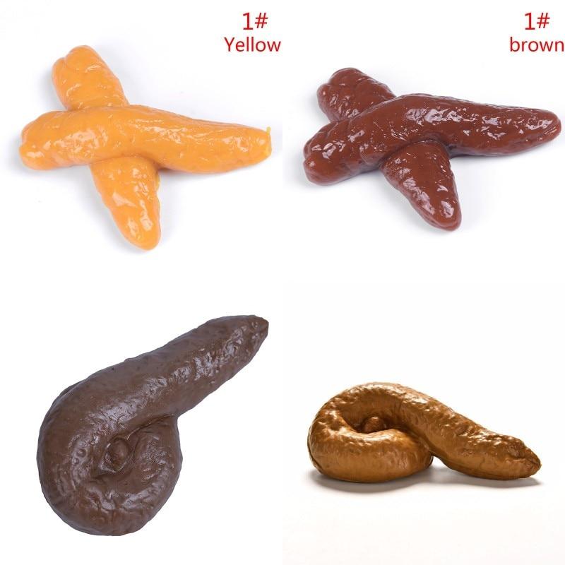 Funny Realistic Fake Poop Toy Human Poo Jokes Prank Tricky Turd Gag Gadget hot
