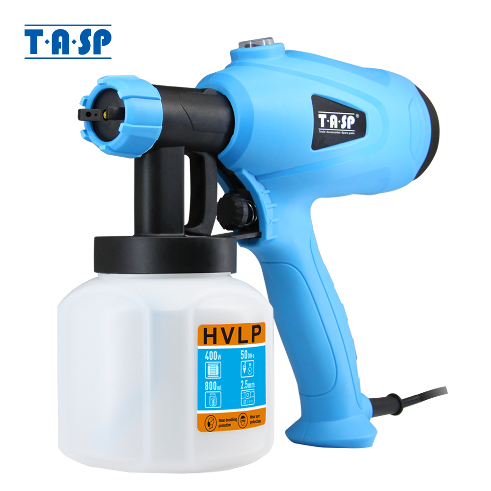 TASP 120V/230V 400W Electric Spray Gun HVLP Paint Sprayer Compressor Airbrush Spraying Power Tools Easy Use & Clean
