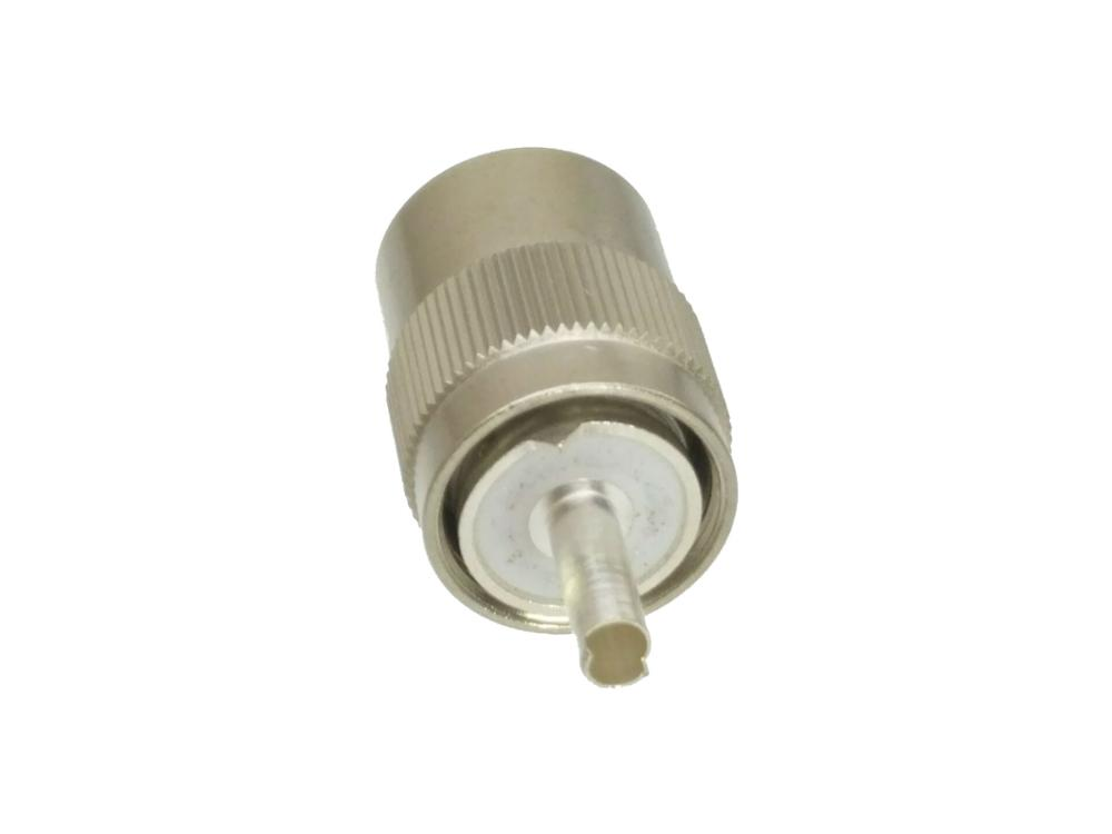 Connector UHF male Plug PL259 solder RG8 RG213 LMR400 7D-FB cable silver