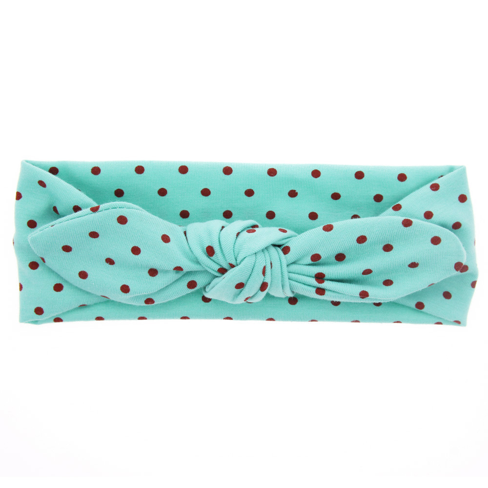 Lovely  Headwear Girls Soft Brand Ladies Dot Hair Band Wrap Bath MakeUp Cute Headwear For Face Washing Hair Accessories 1111
