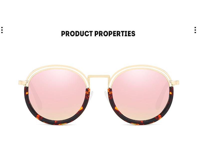 Sunglasses Women Vintage Round Sun Glasses Polarized Lens UV400 Anti Reflective Summer Polarized Women Snnglasses (14)