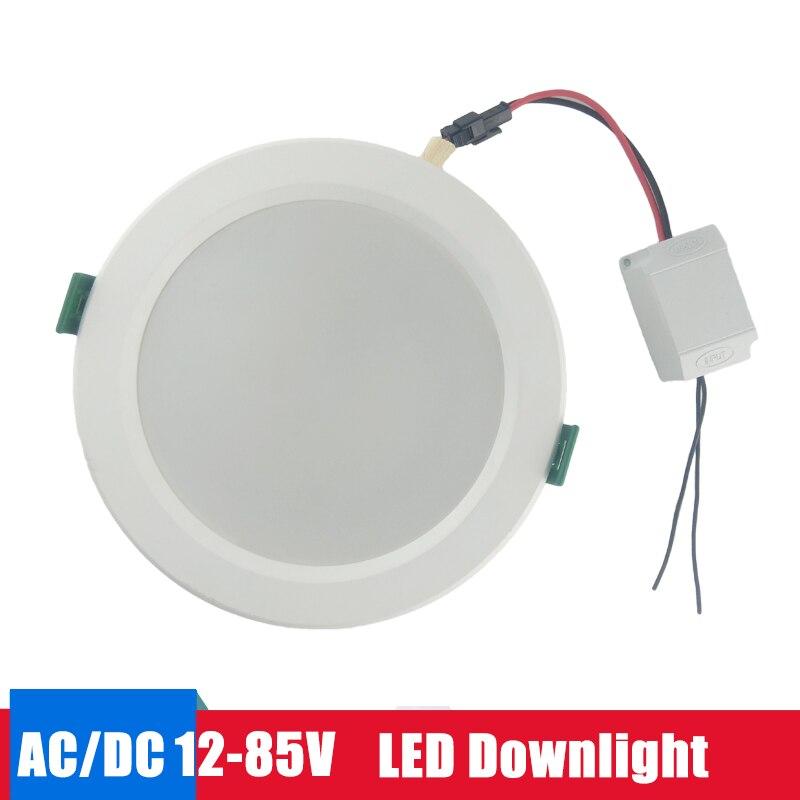 Led Panel Light Led Downlight 12v 24v 36v 48v Recessed Round Lamp 18w 15w 12w 9w Led Lights For Home Bedroom Spot Light