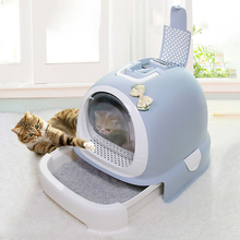 Litter-Box Pet-Supplies Deodorant Cat Toilet Enclosed Big Anti-Splash Cabinet Totally