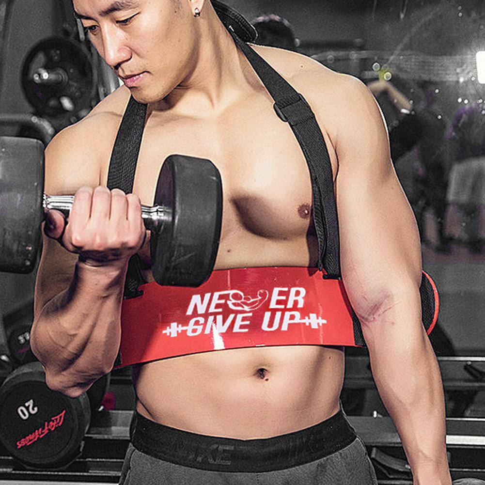 Gym Weight lifting Arm Blaster Wrist Wraps Support Arm Curl Blaster For Biceps