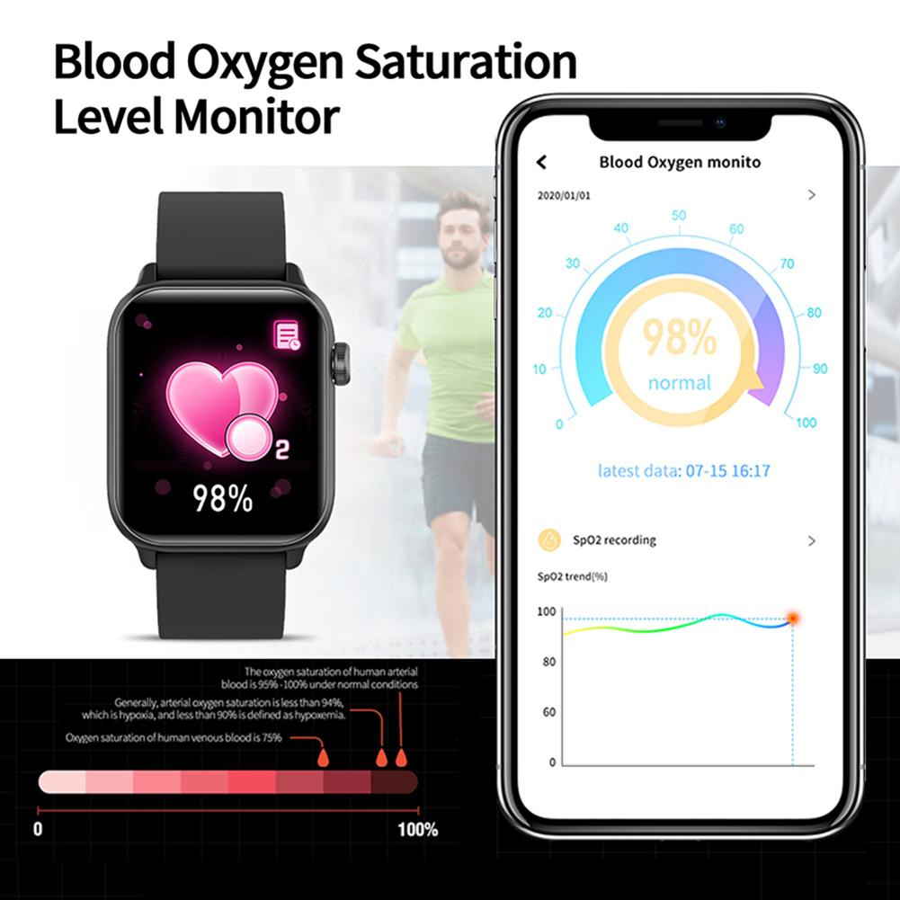 Cell Phone - IP68 Waterproof Smart Watch Men Round Screen Heart Rate Blood Pressure Monitoring Smart Watch