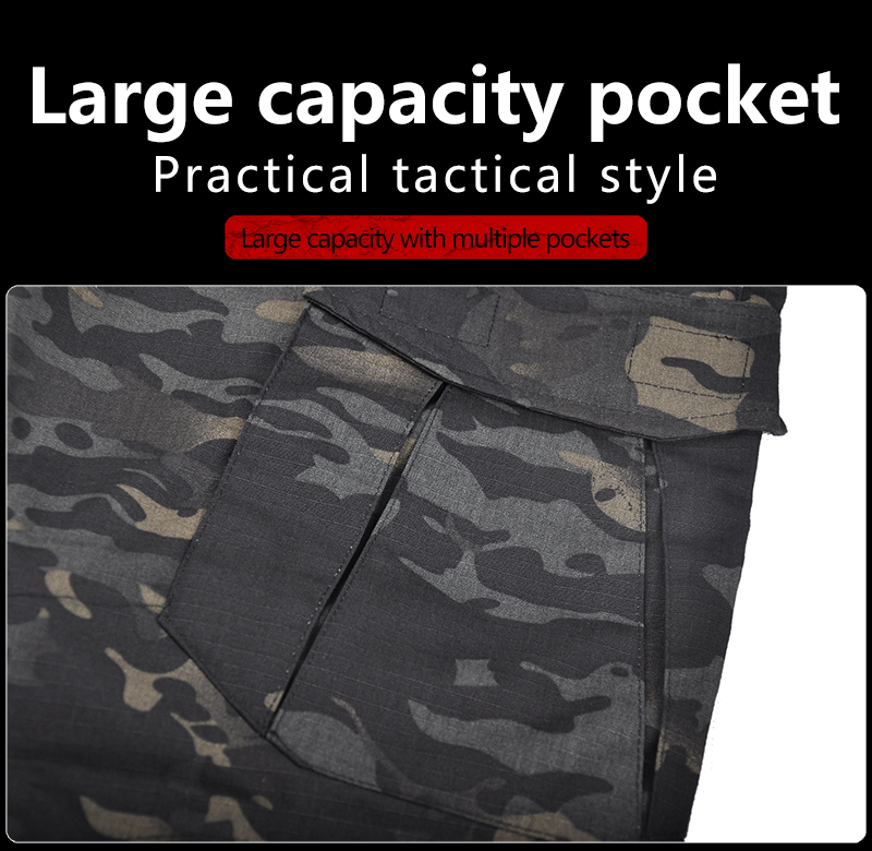 HAN WILD Tactical Pants Camouflage Military Casual Combat Army Cargo Joggers Hiking Pants Water Repellent Ripstop 4XL Trousers