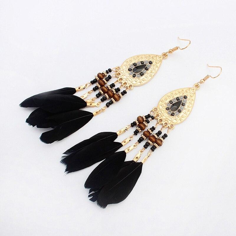 Boucles d'Oreilles Attrape Rêves Femme Noir bijoux femme tenue unique style chic et bohème turquoise belle or massif style indien amérindienne capteurs de rêves