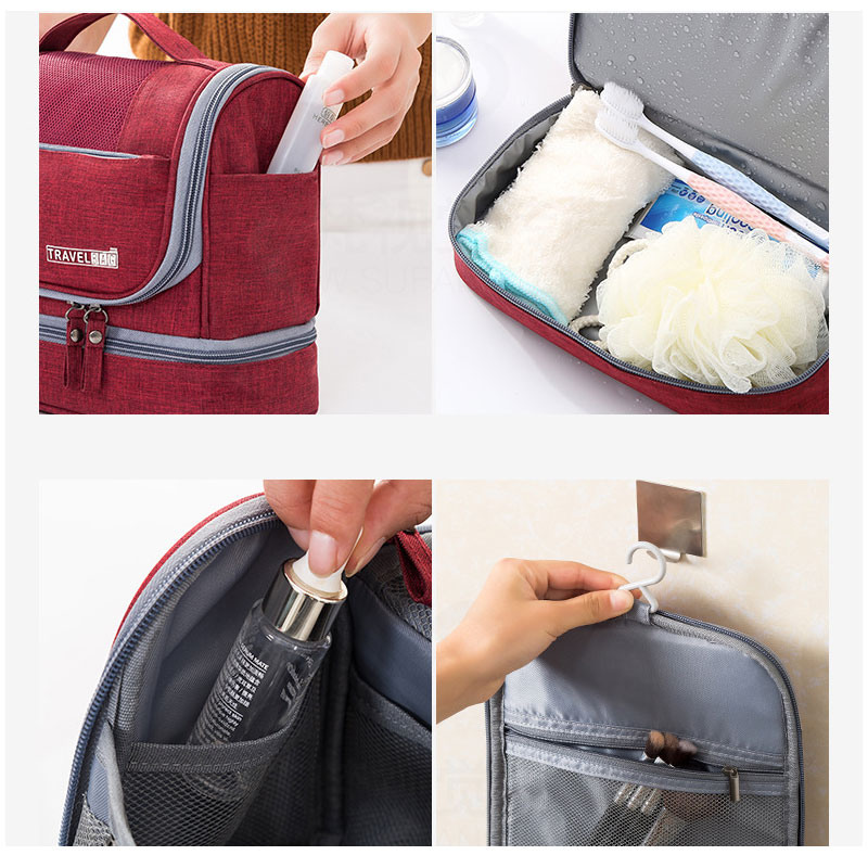 New Waterproof Men Hanging Makeup Bag Oxford Travel Organizer Cosmetic Bag for Women Necessaries Make Up Case Wash Toiletry Bag
