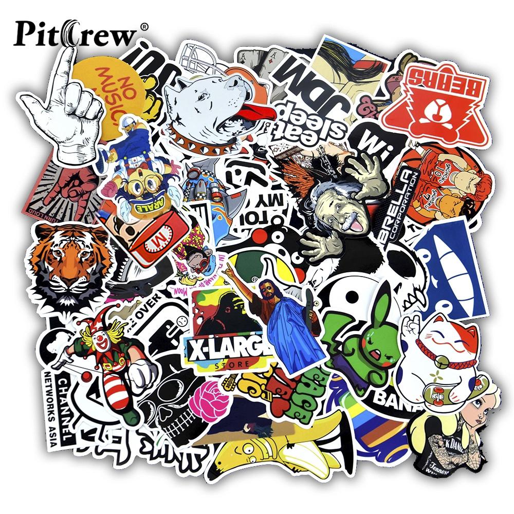 50 pcs Funny Car Stickers on Motorcycle Suitcase Home Decor Phone Laptop Covers DIY Vinyl Decal Sticker Bomb JDM Car styling title=