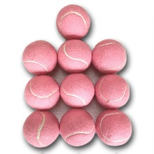 Tennis-Balls Practice Pink for School-Club 6pcs-Pack 66mm Beginners Wear-Resistant Ladies