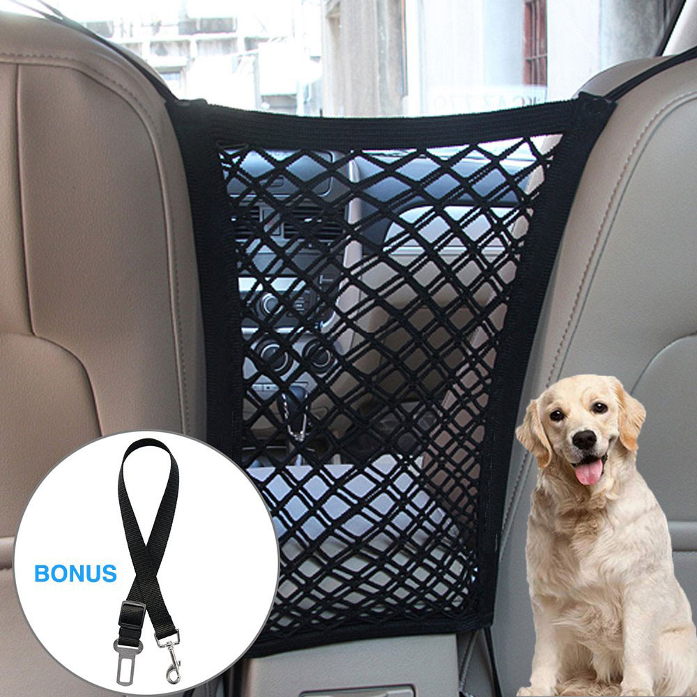 Car Pet dog fence Car Safety Travel Isolation dog cage Net Vehicle Pet Car Back Seat Safety Barrier Mesh Pet Products