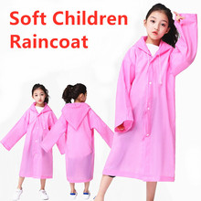 Children Raincoat Waterproof Fashion Transparent Kids EVA Tour 1PC Thickened Student