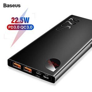 Baseus 5A SCP power Bank Быстрая зарядка 3,0 USB C PD 10000mAh power bank для iPhone Xiaomi huawei портативное Внешнее зарядное устройство