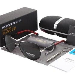 Мужские и женские солнцезащитные очки BARCUR, поляризационные солнцезащитные очки для вождения с защитой UV400