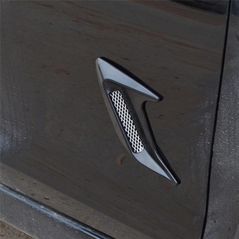 uxcell Car Auto Decorative Side Vent Air Flow Fender Intake Stickers Black 2 Pcs