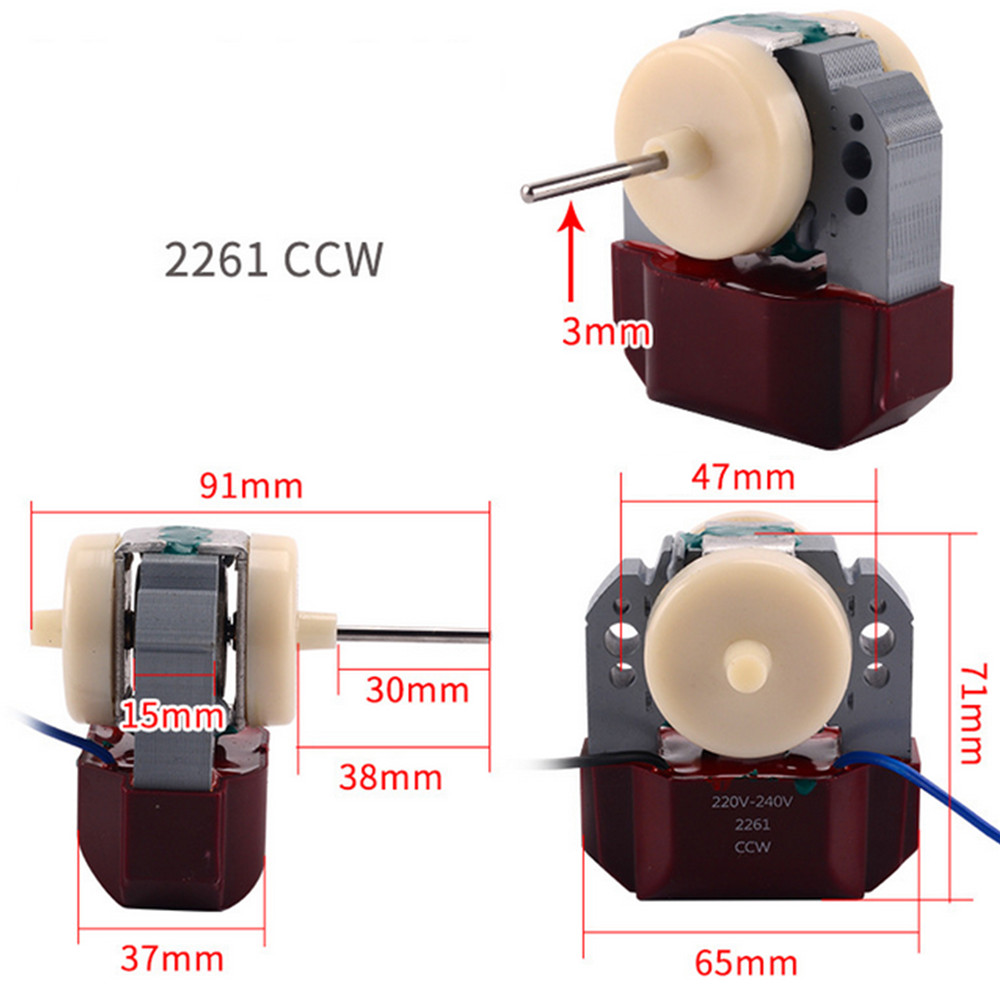Replacement Refrigerator Freezer Cooling Fan Motor for Samsung Fan Motor RE-01WT Asynchronous Motor for Refrigerator Repair Part