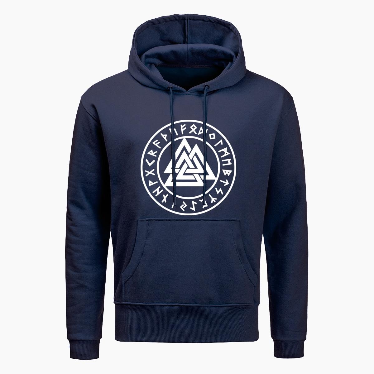 Cool Odin Viking Hoodies Men Vikings Symbols Print Hoodie Men Autumn Hip Hop Tops Winter Harajuku Streetwear