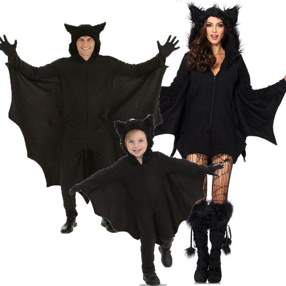 New-Adult-Children-Animal-Cosplay-Cute-Bat-Costume-Kids-Halloween-Costumes-For-Girls-Black-Jumpsuit-Connect