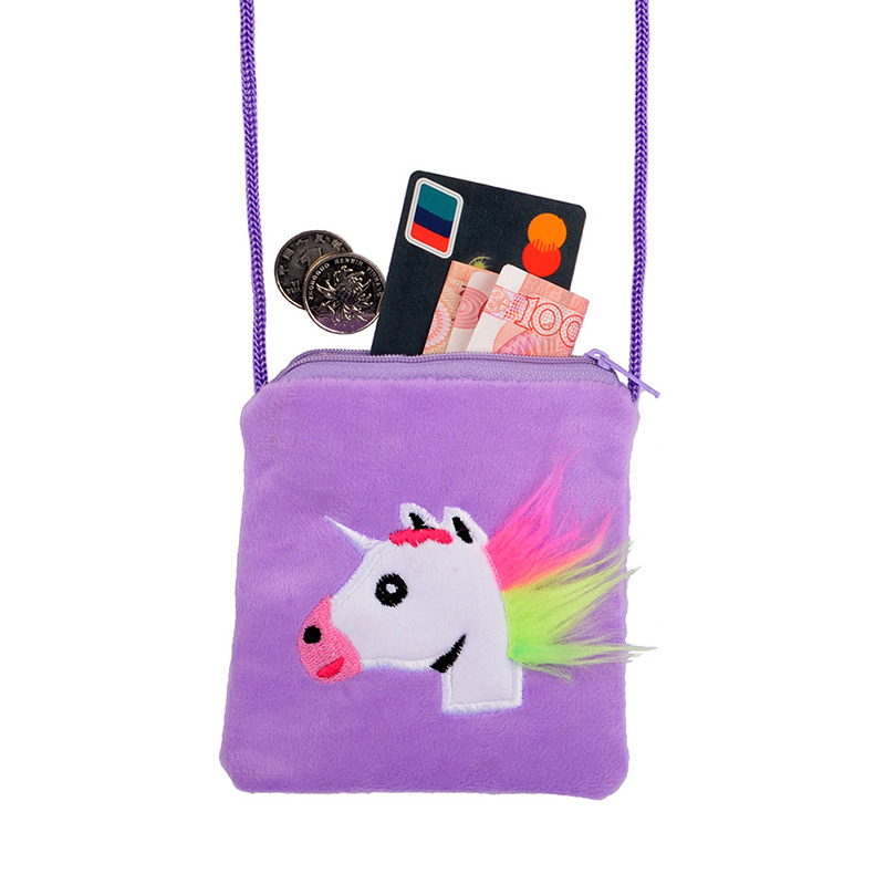 New Unicorn Kids Coin Bag  Girls Mini Messenger Bag Cartoon Boys Small Coin Purse Children Summer Phone Bag
