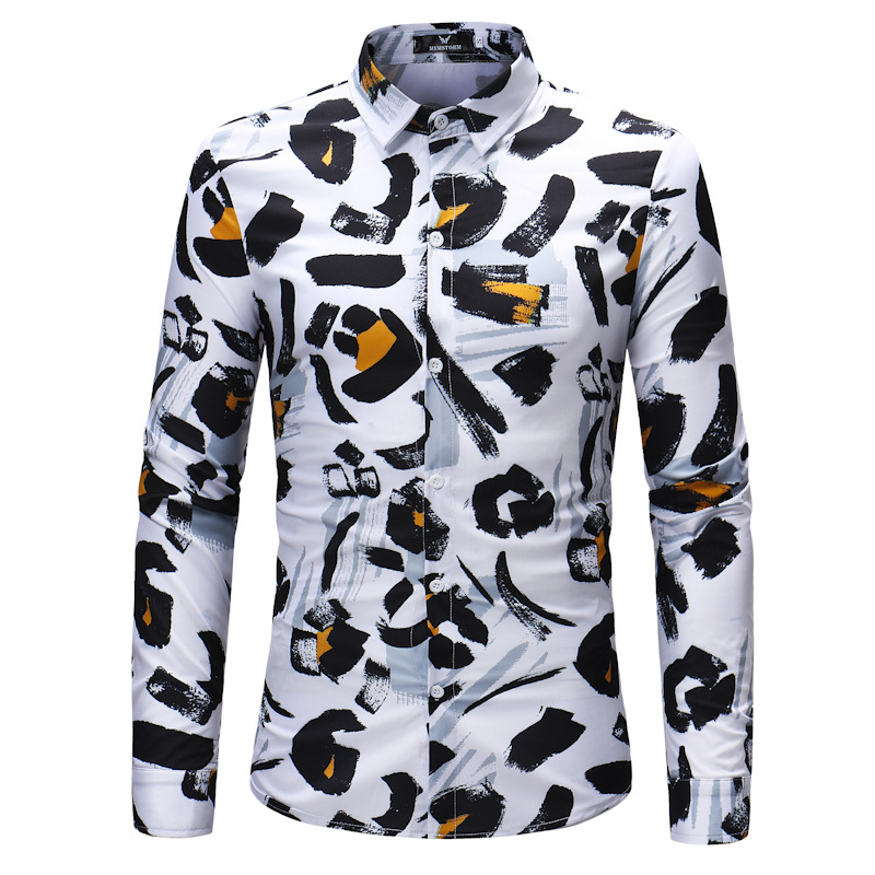 Men/'s Casual Shirt Slim Fit Men/'s Casual Button Down Shirt Long Sleeve Formal Dress Shirts Men Male Clothing