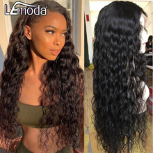 Lemoda Transparent Lace Wig Human-Hair-Wigs Hairline Water-Wave Pre-Plucked Natural 13x6