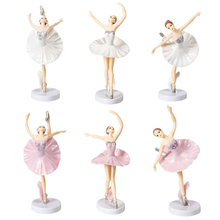 Toy Dollhouse-Decoration Cake-Decor Figurine Ballerina-Girl Miniature Craft 3pcs Playset