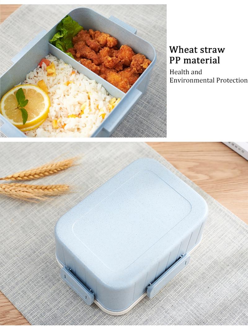 TUUTH Cute Cartoon Lunch Box Microwave Dinnerware Food Storage Container Children Kids School Office Portable Bento Box B4