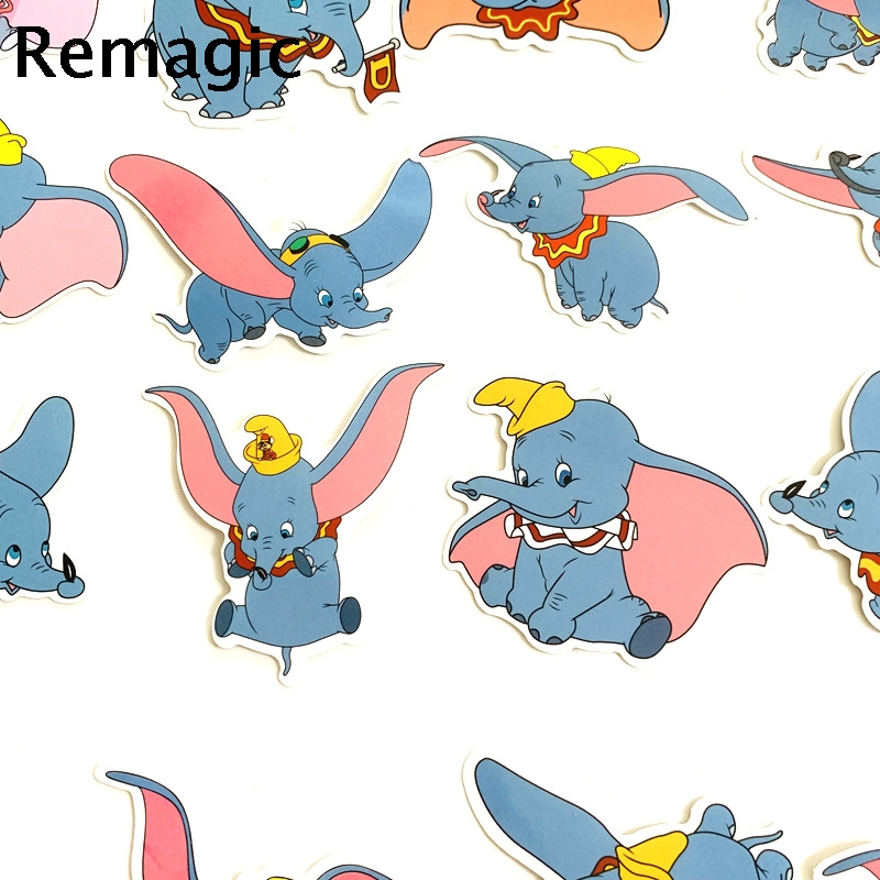 Etiqueta engomada de Dumbo Hojas scrapbooking