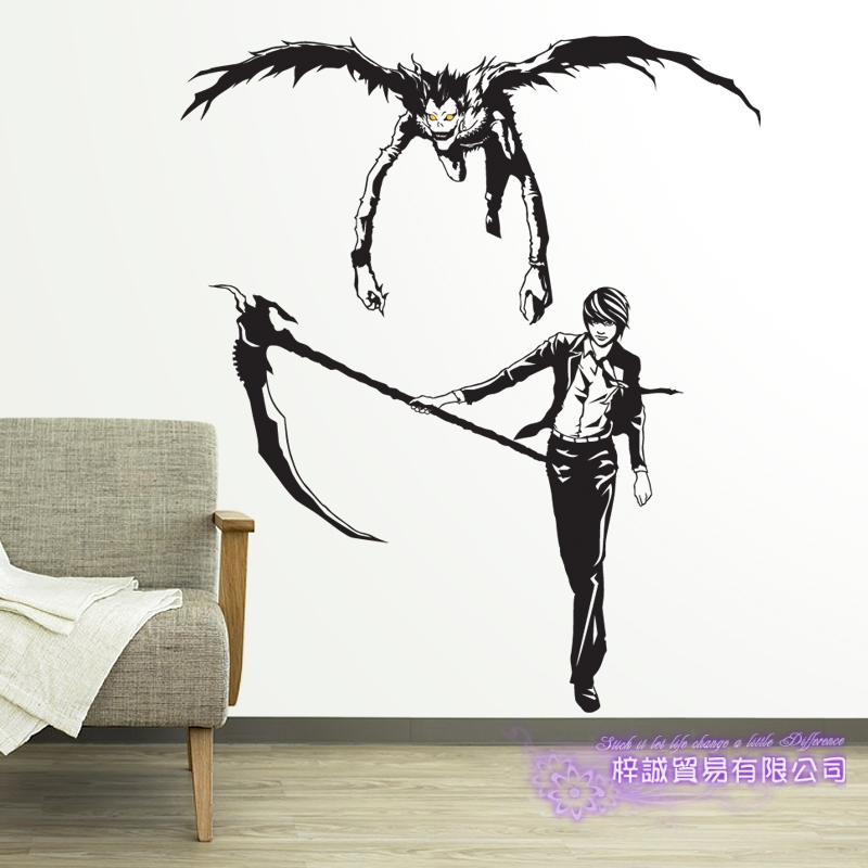 DCTAL Death Note L L.Lawliet Car Decal Ryuuku  Wall Sticker Cartoon Fans Vinyl Wall Stickers Car Decal Decor Home Decorative