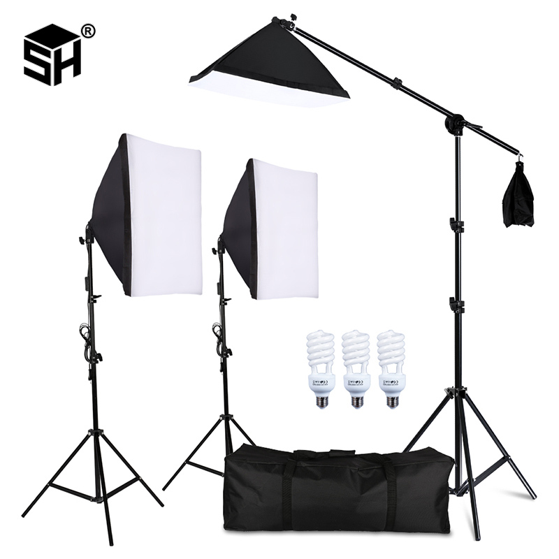 Photography Studio Softbox Lighting Kit Arm for Video & YouTube Continuous Lighting Professional Lighting Set Photo Studio title=